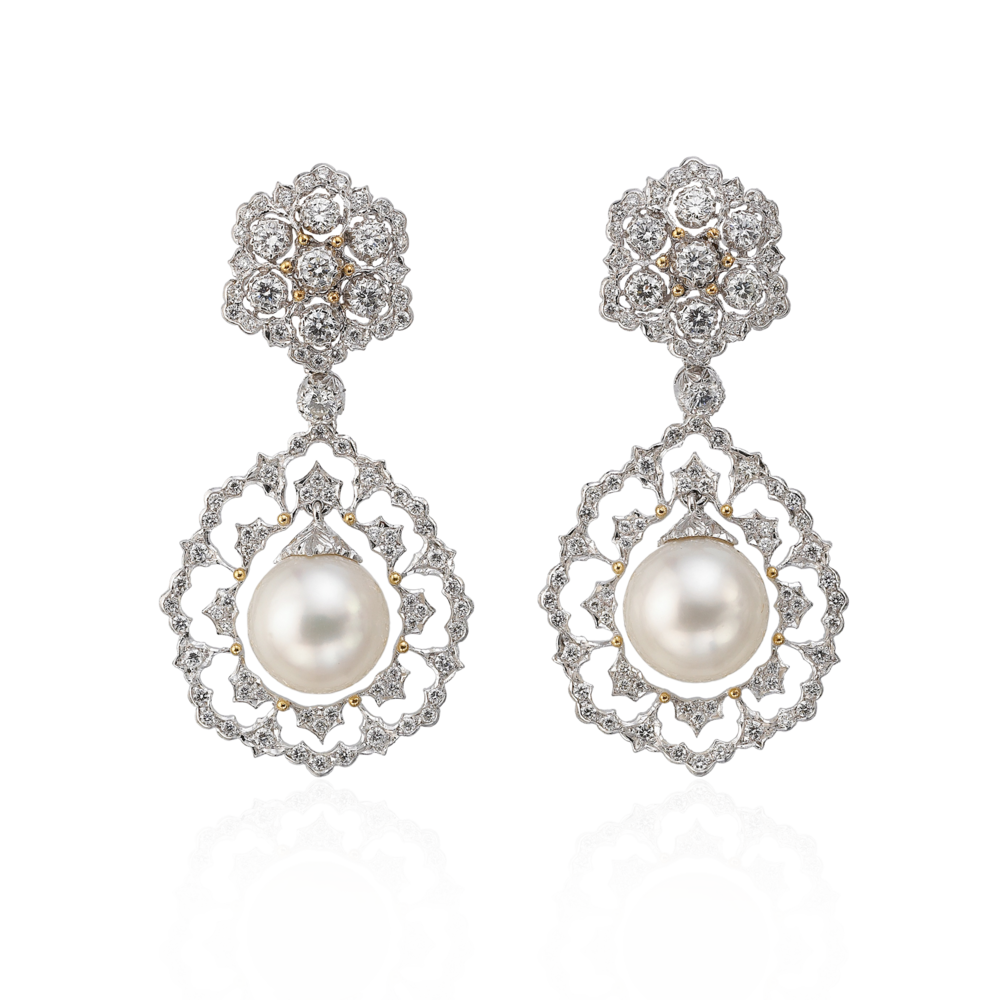 Buccellati - Orecchini - Pendant Earrings - Alta Gioielleria