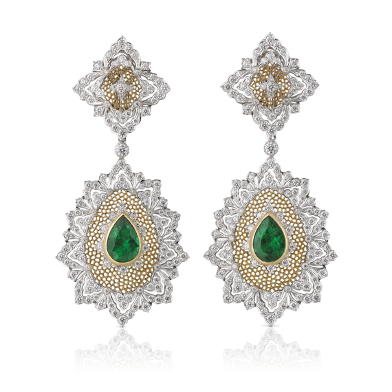 Buccellati - Earrings - Esmeralda Earrings - High Jewelry